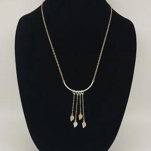 Sterling silver & 14 kt gold filled leaf Necklace
